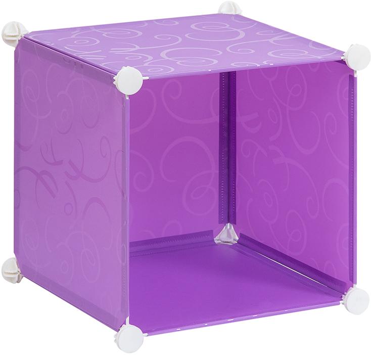 Полка складная EL Casa, для модульной системы хранения, цвет: фиолетовый, 37 х 39 х 39 см. 370662CLP446Полка складная EL Casa представляет собой сборный металлический каркас, на который натянуты панели из полипропилена. Модульная полка предназначена для хранения одежды, игрушек и мелочей. Она легкая, вместительная, быстро собирается, не занимает много места, комбинируется с другими полками модульных систем El Casa. Компактная полка станет незаменимой дома или на даче, однотонная расцветка позволит ей вписаться в любой интерьер.