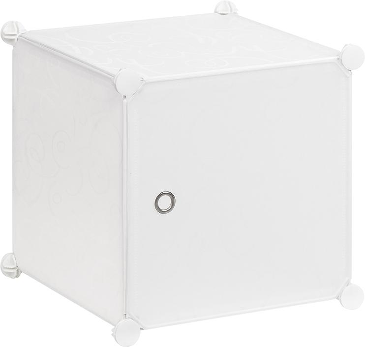 Полка складная EL Casa, для модульной системы хранения, цвет: белый, 37 х 39 х 39 см. 370669CLP446Складная модульная полка EL Casa представляет собой сборный металлический каркас, на который натянуты панели из полипропилена. Дверца снабжена магнитом, ручка выполнена в виде металлического кольца. Модульная полка предназначена для хранения одежды, игрушек и мелочей. Она легкая, вместительная, быстро собирается, не занимает много места, комбинируется с другими полками модульных систем El Casa. Компактная полка станет незаменимой дома или на даче, однотонная расцветка позволит ей вписаться в любой интерьер.
