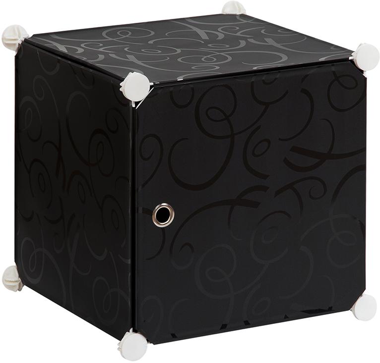 Полка складная EL Casa, для модульной системы хранения, цвет: черный, 37 х 39 х 39 см. 37067174-0140Складная модульная полка EL Casa представляет собой сборный металлический каркас, на который натянуты панели из полипропилена. Дверца снабжена магнитом, ручка выполнена в виде металлического кольца. Модульная полка предназначена для хранения одежды, игрушек и мелочей. Она легкая, вместительная, быстро собирается, не занимает много места, комбинируется с другими полками модульных систем El Casa. Компактная полка станет незаменимой дома или на даче, однотонная расцветка позволит ей вписаться в любой интерьер.