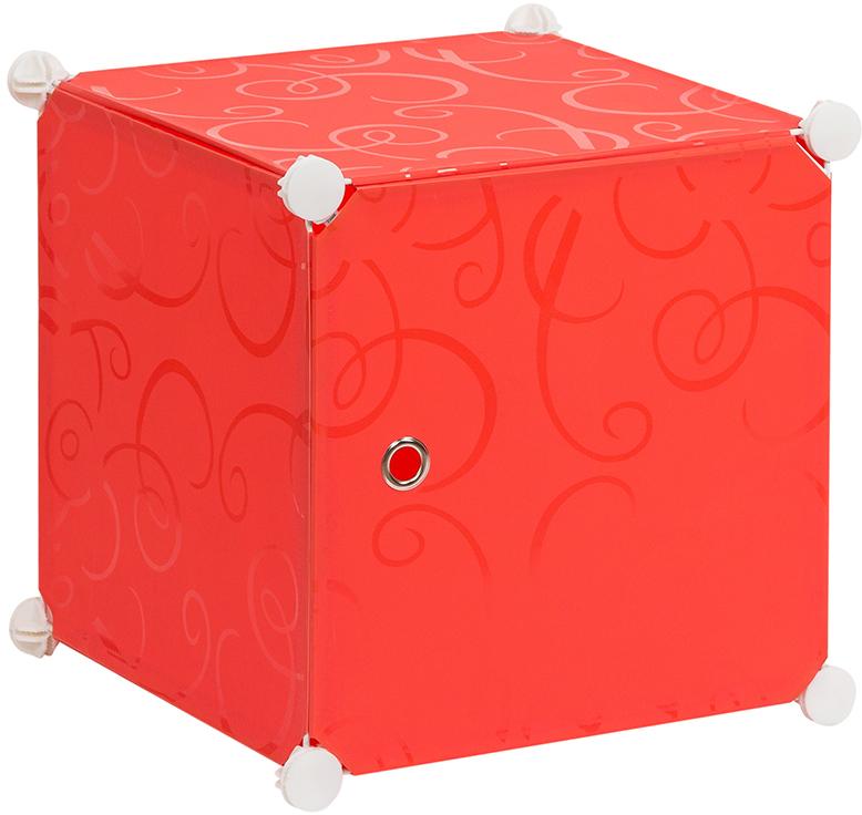 Полка складная EL Casa, для модульной системы хранения, цвет: красный, 37 х 39 х 39 см. 37067274-0120Складная модульная полка EL Casa представляет собой сборный металлический каркас, на который натянуты панели из полипропилена. Дверца снабжена магнитом, ручка выполнена в виде металлического кольца. Модульная полка предназначена для хранения одежды, игрушек и мелочей. Она легкая, вместительная, быстро собирается, не занимает много места, комбинируется с другими полками модульных систем El Casa. Компактная полка станет незаменимой дома или на даче, однотонная расцветка позволит ей вписаться в любой интерьер.