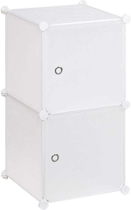 Полка складная EL Casa, для модульной системы хранения, цвет: белый, 37 х 39 х 74 см. 370673V4140/1SСкладная модульная полка EL Casa представляет собой сборный металлический каркас, на который натянуты панели из полипропилена. Дверцы снабжены магнитом, ручки выполнены в виде металлического кольца. Изделие имеет 2 секции. Модульная полка предназначена для хранения одежды, игрушек и мелочей. Она легкая, вместительная, быстро собирается, не занимает много места, комбинируется с другими полками модульных систем El Casa. Компактная полка станет незаменимой дома или на даче, однотонная расцветка позволит ей вписаться в любой интерьер.