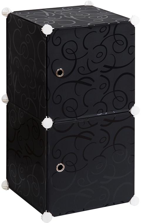 Полка складная EL Casa, для модульной системы хранения, цвет: черный, 37 х 39 х 74 см. 37067528907 4Складная модульная полка EL Casa представляет собой сборный металлический каркас, на который натянуты панели из полипропилена. Дверцы снабжены магнитом, ручки выполнены в виде металлического кольца. Изделие имеет 2 секции. Модульная полка предназначена для хранения одежды, игрушек и мелочей. Она легкая, вместительная, быстро собирается, не занимает много места, комбинируется с другими полками модульных систем El Casa. Компактная полка станет незаменимой дома или на даче, однотонная расцветка позволит ей вписаться в любой интерьер.