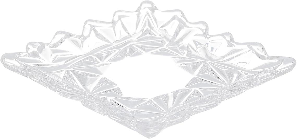 Блюдо Elan Gallery Узоры, 11,5 см х 11,5 см115510Блюдо Elan Gallery Узоры, изготовленное из стекла, сочетает в себе изысканный дизайн с максимальной функциональностью. Красочность оформления придется по вкусу тем, кто предпочитает утонченность и изящность. Оригинальное блюдо украсит сервировку вашего стола и подчеркнет прекрасный вкус хозяйки, а также станет отличным подарком. Размер блюда (по верхнему краю): 11,5 см х 11,5 см.Высота: 1,8 см.
