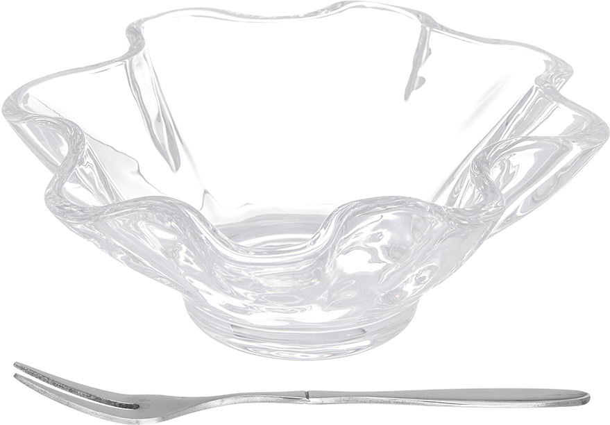 Блюдо для оливок Elan Gallery Цветок, с вилкой, 13,5 х 13,5 смVT-1520(SR)Блюдо Elan Gallery Цветок, выполненное из высококачественного стекла в форме юбочки, предназначено для сервировки оливок или снеков. В комплект также входит специальная вилка для оливок. Блюдо Elan Gallery Цветок идеально подойдет для сервировки стола и станет отличным подарком к любому празднику.Размер блюда: 13,5 см х 13,5 см х 5 см.Длина вилки: 12,5 см.Объем блюда: 180 мл.