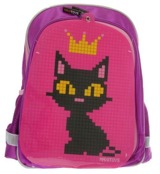 Maxi Toys Рюкзак для девочки Котенок цвет розовый, сиреневый72523WDМягкий каркас.Базовая картинка: КотенокК внешнему карману рюкзака прикреплена яркая картинка базового рисунка.Размер силиконовой панели: 25,5 х 40 смПоверхность силиконовой панели: 34 ряда, 42 линииКоличество точек панели: 1260 штукЦвет силиконовой панели: розовыйРазмер элементов для декорирования: 0,6 см Элементы для декорирования: 430 штук (включая бесплатные дополнительные элементы для декорирования на замену)Цвета элементов для декорирования: розовый, желтый, черныйОсновное отделение на молнии, 1 внешний карман, 2 боковых сетчатых кармана, внутренний разделитель для учебников и тетрадей. Усиленная спинка. Светоотражающие элементы.Стилизованные прорезиненные пуллеры.Дно с внутренним уплотнением.