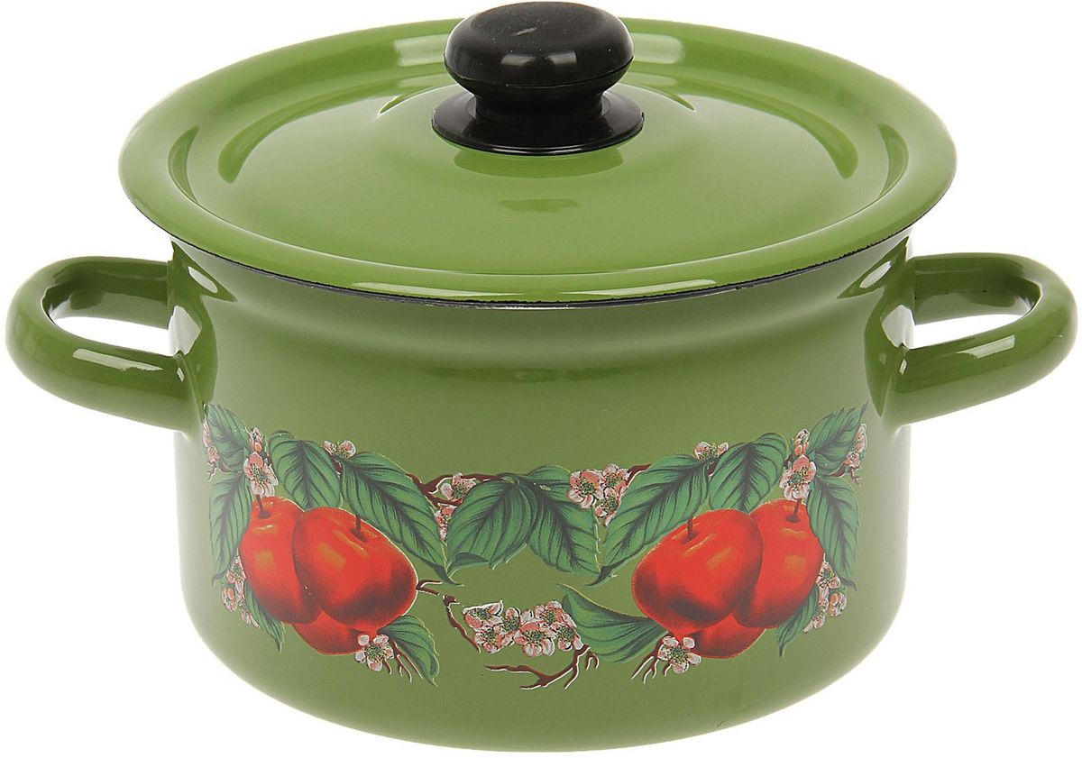 Кастрюля Epos Яблоко зеленое, 2 л54 009312Эмалированная кастрюля пригодится вам для быстрого приготовления разных типов блюд. Такая посуда подходит для домашнего и профессионального использования.Кастрюля цилиндрическая — помощь на кухне на долгие годы.Достоинства:посуда быстро и равномерно нагревается;корпус стоек к ржавчине;изделие легко отмывается в посудомоечной машине.Благодаря приятным цветам кастрюля удачно впишется в любой дизайн интерьера. Наилучшее качество покрытия достигается за счёт того, что посуда проходит обжиг при температуре до 800 градусов.Чтобы предмет сохранял наилучшие эксплуатационные свойства, соблюдайте правила ухода:избегайте ударов и падений;не пользуйтесь высокоабразивными чистящими средствами;не допускайте резких перепадов температуры.Посуда подходит для долговременного хранения пищи.