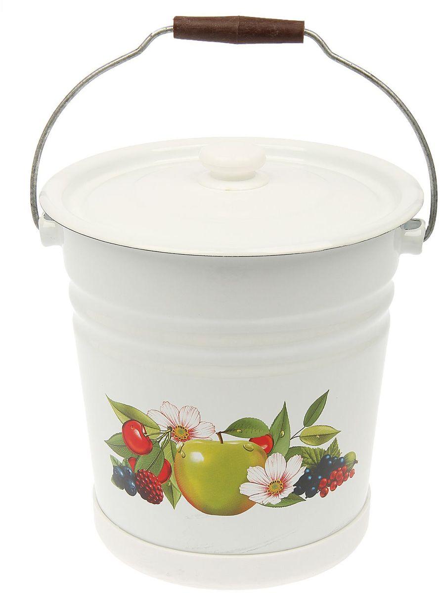 Ведро Epos Летний сад, с крышкой, с поддоном, 12 л787502Эмалированная посудая пригодится вам для быстрого приготовления разных типов блюд. Такая посуда подходит для домашнего и профессионального использования.Достоинства:посуда быстро и равномерно нагревается;корпус стоек к ржавчине;изделие легко отмывается в посудомоечной машине.Благодаря приятным цветам кастрюля удачно впишется в любой дизайн интерьера. Наилучшее качество покрытия достигается за счёт того, что посуда проходит обжиг при температуре до 800 градусов.Чтобы предмет сохранял наилучшие эксплуатационные свойства, соблюдайте правила ухода:избегайте ударов и падений;не пользуйтесь высокоабразивными чистящими средствами;не допускайте резких перепадов температуры.Посуда подходит для долговременного хранения пищи.