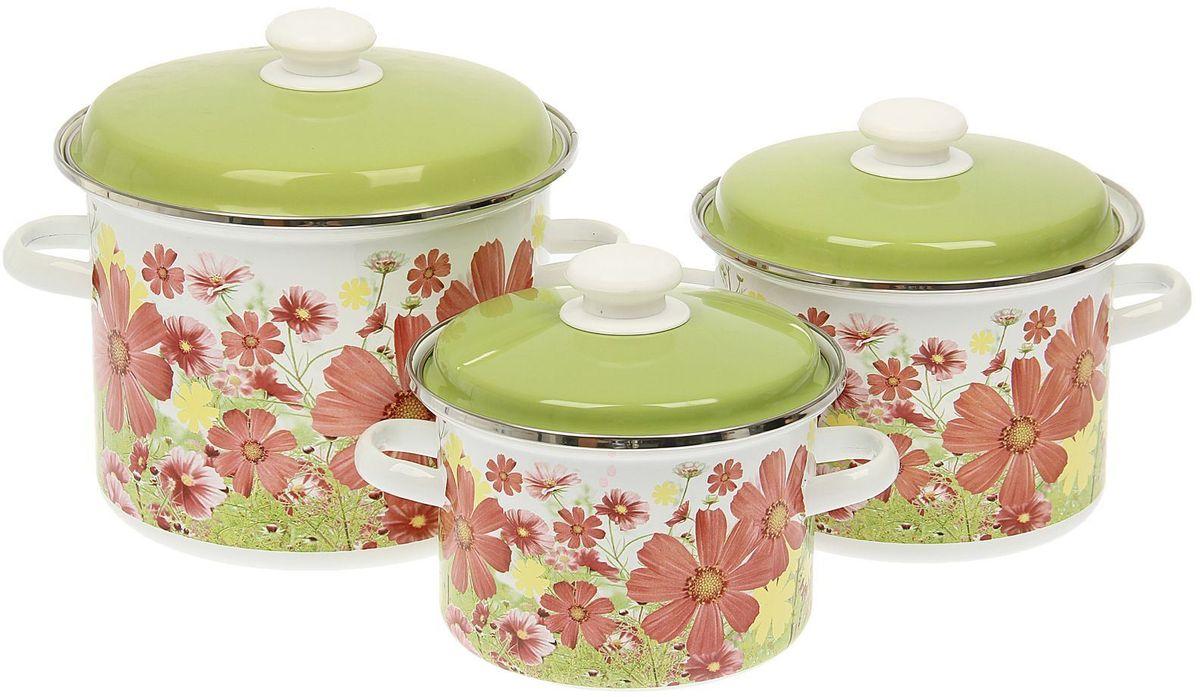 Набор кастрюль Epos Барыня, с крышками, 6 предметов54 009312Эмалированная посудая пригодится вам для быстрого приготовления разных типов блюд. Такая посуда подходит для домашнего и профессионального использования.Достоинства:посуда быстро и равномерно нагревается;корпус стоек к ржавчине;изделие легко отмывается в посудомоечной машине.Благодаря приятным цветам кастрюля удачно впишется в любой дизайн интерьера. Наилучшее качество покрытия достигается за счёт того, что посуда проходит обжиг при температуре до 800 градусов.Чтобы предмет сохранял наилучшие эксплуатационные свойства, соблюдайте правила ухода:избегайте ударов и падений;не пользуйтесь высокоабразивными чистящими средствами;не допускайте резких перепадов температуры.Посуда подходит для долговременного хранения пищи.