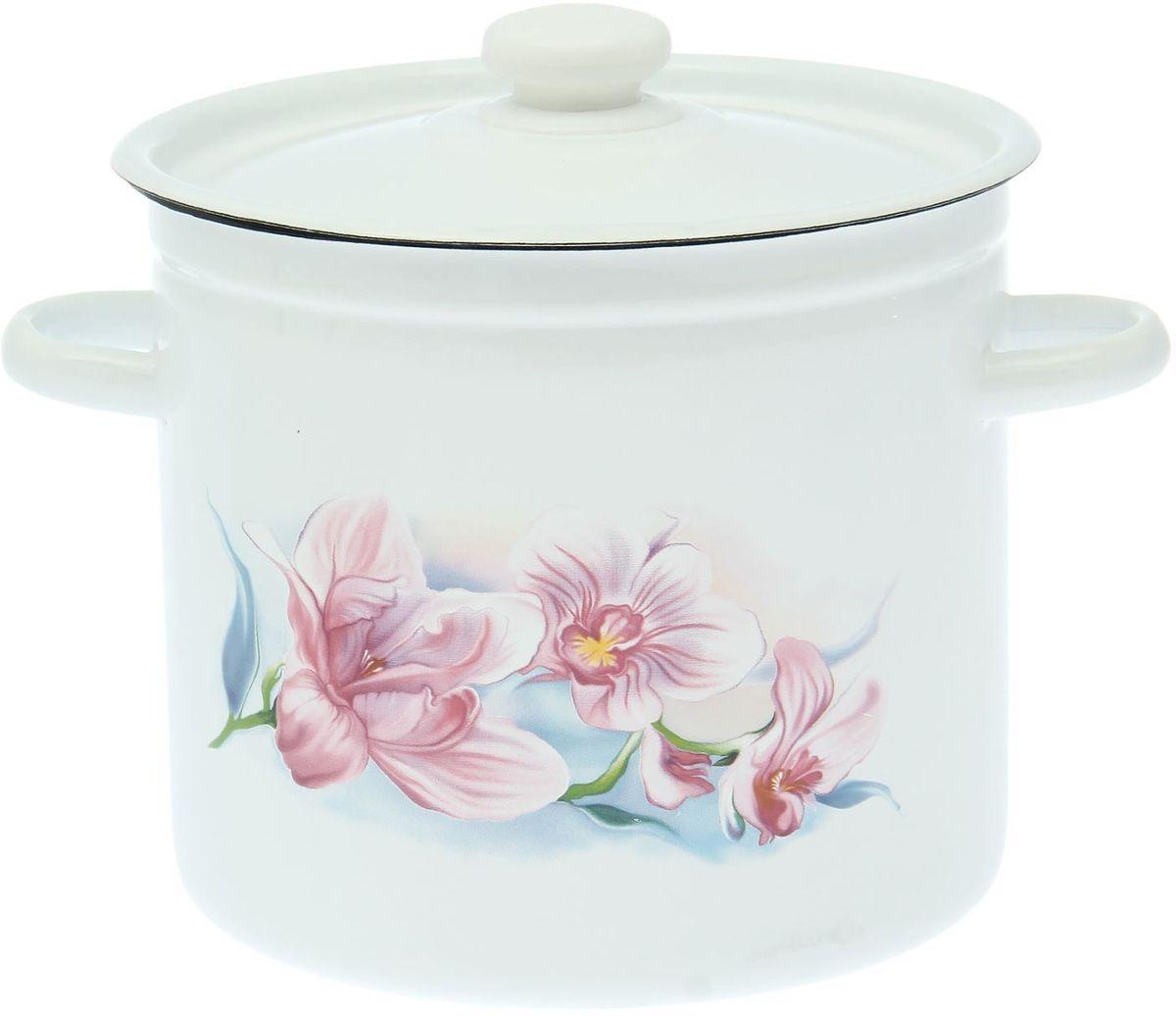 Кастрюля Epos Сиреневая орхидея, 7 л94672Эмалированная кастрюля пригодится вам для быстрого приготовления разных типов блюд. Такая посуда подходит для домашнего и профессионального использования.Кастрюля цилиндрическая — помощь на кухне на долгие годы.Достоинства:посуда быстро и равномерно нагревается;корпус стоек к ржавчине;изделие легко отмывается в посудомоечной машине.Благодаря приятным цветам кастрюля удачно впишется в любой дизайн интерьера. Наилучшее качество покрытия достигается за счёт того, что посуда проходит обжиг при температуре до 800 градусов.Чтобы предмет сохранял наилучшие эксплуатационные свойства, соблюдайте правила ухода:избегайте ударов и падений;не пользуйтесь высокоабразивными чистящими средствами;не допускайте резких перепадов температуры.Посуда подходит для долговременного хранения пищи.