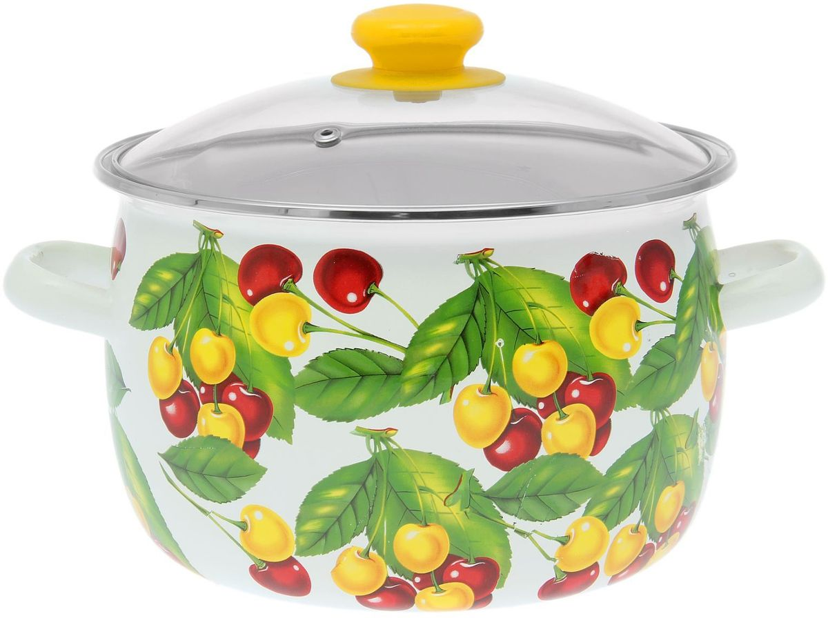 Кастрюля Epos Вкусняшка, с крышкой, 5 л68/5/3Эмалированная кастрюля пригодится вам для быстрого приготовления разных типов блюд. Такая посуда подходит для домашнего и профессионального использования.Достоинства:посуда быстро и равномерно нагревается;корпус стоек к ржавчине;изделие легко отмывается в посудомоечной машине.Благодаря приятным цветам кастрюля удачно впишется в любой дизайн интерьера. Наилучшее качество покрытия достигается за счёт того, что посуда проходит обжиг при температуре до 800 градусов.Чтобы предмет сохранял наилучшие эксплуатационные свойства, соблюдайте правила ухода:избегайте ударов и падений;не пользуйтесь высокоабразивными чистящими средствами;не допускайте резких перепадов температуры.Посуда подходит для долговременного хранения пищи.