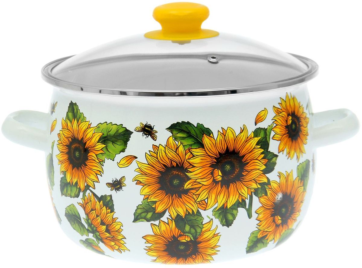 Кастрюля Epos Сонце, с крышкой, 5 л54 009312Эмалированная кастрюля пригодится вам для быстрого приготовления разных типов блюд. Такая посуда подходит для домашнего и профессионального использования.Достоинства:посуда быстро и равномерно нагревается;корпус стоек к ржавчине;изделие легко отмывается в посудомоечной машине.Благодаря приятным цветам кастрюля удачно впишется в любой дизайн интерьера. Наилучшее качество покрытия достигается за счёт того, что посуда проходит обжиг при температуре до 800 градусов.Чтобы предмет сохранял наилучшие эксплуатационные свойства, соблюдайте правила ухода:избегайте ударов и падений;не пользуйтесь высокоабразивными чистящими средствами;не допускайте резких перепадов температуры.Посуда подходит для долговременного хранения пищи.