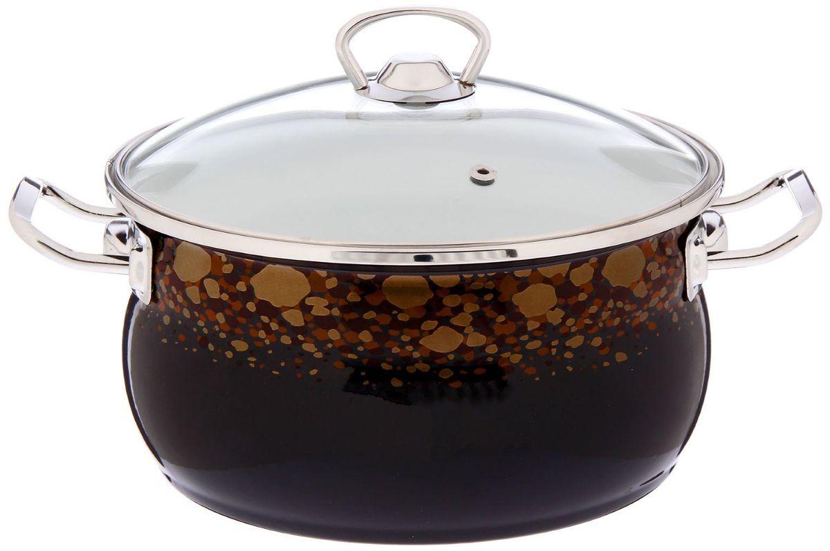 Кастрюля Epos Клеопатра, с крышкой, 3,5 л94672Эмалированная кастрюля пригодится вам для быстрого приготовления разных типов блюд. Такая посуда подходит для домашнего и профессионального использования.Достоинства:посуда быстро и равномерно нагревается;корпус стоек к ржавчине;изделие легко отмывается в посудомоечной машине.Благодаря приятным цветам кастрюля удачно впишется в любой дизайн интерьера. Наилучшее качество покрытия достигается за счёт того, что посуда проходит обжиг при температуре до 800 градусов.Чтобы предмет сохранял наилучшие эксплуатационные свойства, соблюдайте правила ухода:избегайте ударов и падений;не пользуйтесь высокоабразивными чистящими средствами;не допускайте резких перепадов температуры.Посуда подходит для долговременного хранения пищи.