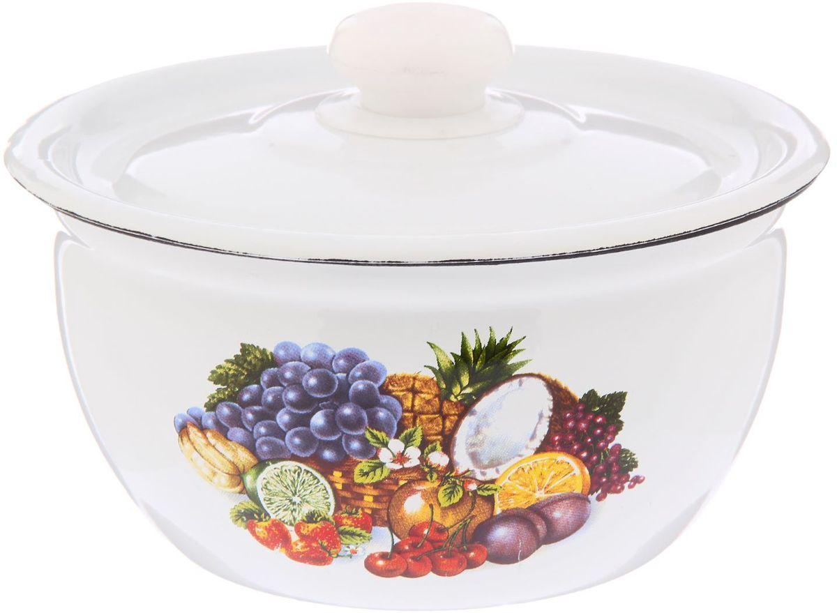 Салатник Epos Тропиканка, с крышкой, 1,5 л115510Эмалированная посудая пригодится вам для быстрого приготовления разных типов блюд. Такая посуда подходит для домашнего и профессионального использования.Достоинства:посуда быстро и равномерно нагревается;корпус стоек к ржавчине;изделие легко отмывается в посудомоечной машине.Благодаря приятным цветам кастрюля удачно впишется в любой дизайн интерьера. Наилучшее качество покрытия достигается за счёт того, что посуда проходит обжиг при температуре до 800 градусов.Чтобы предмет сохранял наилучшие эксплуатационные свойства, соблюдайте правила ухода:избегайте ударов и падений;не пользуйтесь высокоабразивными чистящими средствами;не допускайте резких перепадов температуры.Посуда подходит для долговременного хранения пищи.