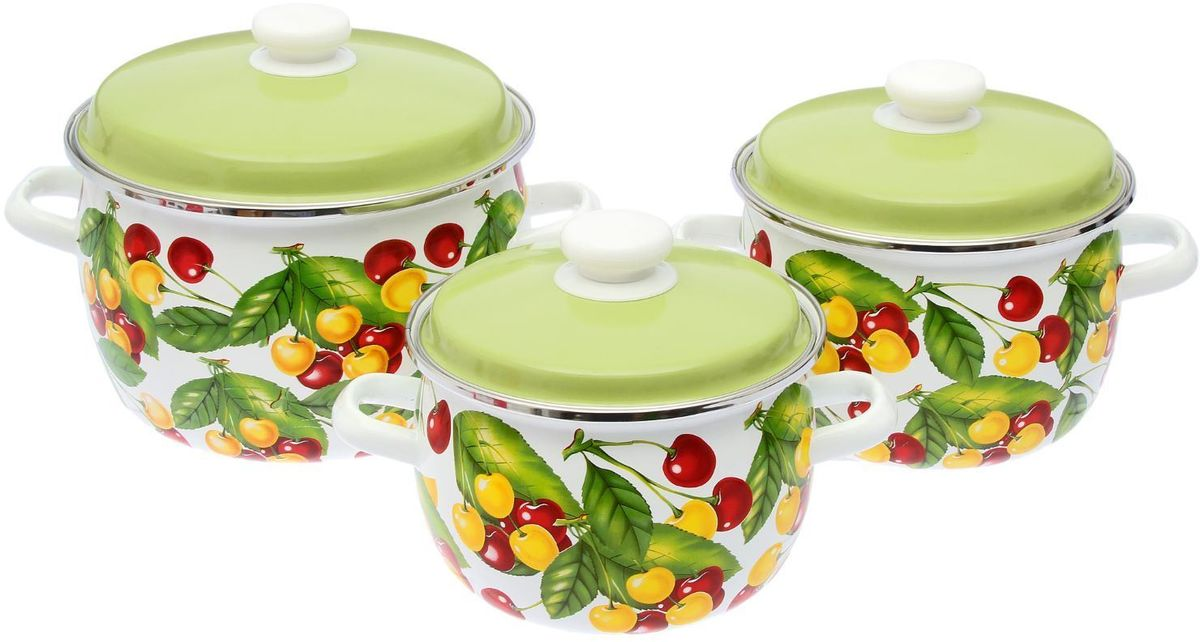 Набор кастрюль Epos Вкусняшка, с крышками, 6 предметов. 229342854 009312Эмалированная посудая пригодится вам для быстрого приготовления разных типов блюд. Такая посуда подходит для домашнего и профессионального использования.Достоинства:посуда быстро и равномерно нагревается;корпус стоек к ржавчине;изделие легко отмывается в посудомоечной машине.Благодаря приятным цветам кастрюля удачно впишется в любой дизайн интерьера. Наилучшее качество покрытия достигается за счёт того, что посуда проходит обжиг при температуре до 800 градусов.Чтобы предмет сохранял наилучшие эксплуатационные свойства, соблюдайте правила ухода:избегайте ударов и падений;не пользуйтесь высокоабразивными чистящими средствами;не допускайте резких перепадов температуры.Посуда подходит для долговременного хранения пищи.