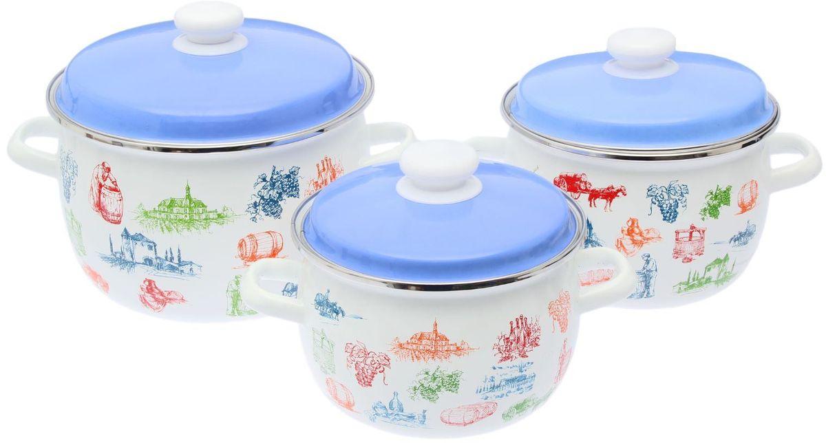 Набор кастрюль Epos Цветная крышка кьянти, с крышками, 6 предметов115510Эмалированная посудая пригодится вам для быстрого приготовления разных типов блюд. Такая посуда подходит для домашнего и профессионального использования.Достоинства:посуда быстро и равномерно нагревается;корпус стоек к ржавчине;изделие легко отмывается в посудомоечной машине.Благодаря приятным цветам кастрюля удачно впишется в любой дизайн интерьера. Наилучшее качество покрытия достигается за счёт того, что посуда проходит обжиг при температуре до 800 градусов.Чтобы предмет сохранял наилучшие эксплуатационные свойства, соблюдайте правила ухода:избегайте ударов и падений;не пользуйтесь высокоабразивными чистящими средствами;не допускайте резких перепадов температуры.Посуда подходит для долговременного хранения пищи.