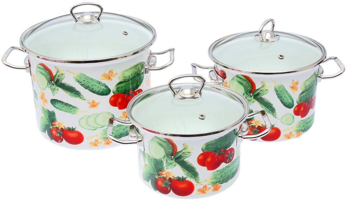 Набор кастрюль Epos Аякс, с крышками, 6 предметовFS-91909Эмалированная посудая пригодится вам для быстрого приготовления разных типов блюд. Такая посуда подходит для домашнего и профессионального использования.Достоинства:посуда быстро и равномерно нагревается;корпус стоек к ржавчине;изделие легко отмывается в посудомоечной машине.Благодаря приятным цветам кастрюля удачно впишется в любой дизайн интерьера. Наилучшее качество покрытия достигается за счёт того, что посуда проходит обжиг при температуре до 800 градусов.Чтобы предмет сохранял наилучшие эксплуатационные свойства, соблюдайте правила ухода:избегайте ударов и падений;не пользуйтесь высокоабразивными чистящими средствами;не допускайте резких перепадов температуры.Посуда подходит для долговременного хранения пищи.