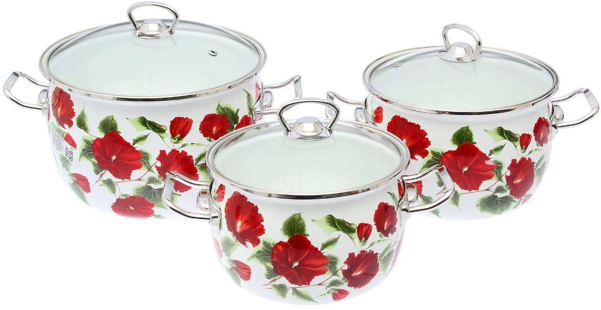 Набор кастрюль Epos Каркаде, с крышками, 6 предметов115510Эмалированная посудая пригодится вам для быстрого приготовления разных типов блюд. Такая посуда подходит для домашнего и профессионального использования.Достоинства:посуда быстро и равномерно нагревается;корпус стоек к ржавчине;изделие легко отмывается в посудомоечной машине.Благодаря приятным цветам кастрюля удачно впишется в любой дизайн интерьера. Наилучшее качество покрытия достигается за счёт того, что посуда проходит обжиг при температуре до 800 градусов.Чтобы предмет сохранял наилучшие эксплуатационные свойства, соблюдайте правила ухода:избегайте ударов и падений;не пользуйтесь высокоабразивными чистящими средствами;не допускайте резких перепадов температуры.Посуда подходит для долговременного хранения пищи.