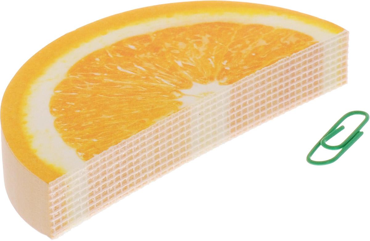 Эврика Блокнот Апельсин48Б7В1кНабор стикеров-листочков собирается в объемный 3D-блокнот по типу елочной гирлянды - схватывается за края скрепкой (входит в комплект).Дизайнер не упустил никаких аппетитных подробностей: кожица, косточка, веточка - все как настоящее. И даже упаковка правильная, фруктовая!
