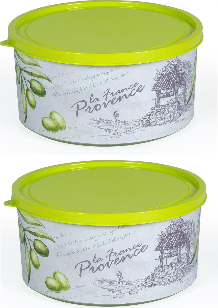 Комплект коробок для мелочей Полимербыт Прованс, круглые, 1,9 л, 2 шт. SGHPBKP48810503Комплект ПРОВАНС КОРОБКА КРУГЛАЯ 1,9л -2 шт. Стиль и качество, забота о покупателе - вот отличительная черта наших пластмассовых изделий. Удобные в использовании и хранении.