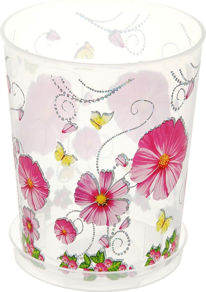 Горшок Альтернатива Камилла, для орхидеи, с поддоном, цвет: прозрачный, розовый, 1,2 л865714Горшок для цветов Альтернатива Камилла изготовлен из качественного пластика и оснащен поддоном для стока воды. Изделие прекрасно подойдет для выращивания растений дома и на приусадебных участках. Размеры изделия: 12,5 x 12,5 x 14,5 см.