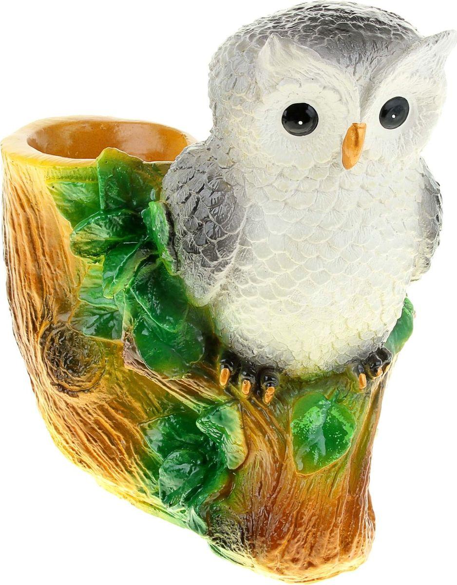Кашпо Noname Сова на пне, 20 х 25 х 38 смNLED-454-9W-WКашпо Noname Сова на пне имеет уникальную форму, сочетающуюся как с классическим, так и с современным дизайном интерьера. Оно изготовлено из высококачественной керамики, предназначено для выращивания растений, цветов и трав в домашних условиях. Кашпо порадует вас функциональностью, а благодаря лаконичному дизайну впишется в любой интерьер помещения. Размеры кашпо: 20 х 25 х 38 см.
