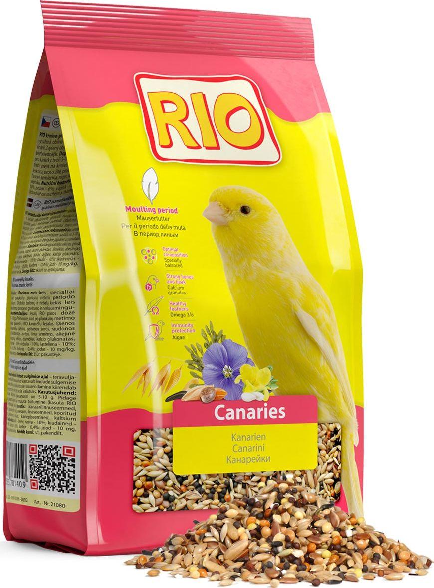 Корм для канареек Rio, в период линьки, 500 г семена кунжута 250 г