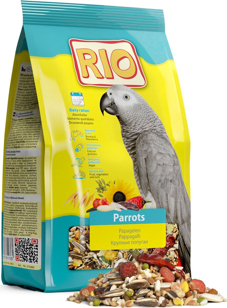 Корм для крупных попугаев Rio, 500 г0120710Корм Rio - полнорационное питание для крупных попугаев. Тщательно сбалансированная зерновая смесь для ежедневного кормления обеспечит птицу всеми необходимыми питательными веществами. Содержит воздушные зерна, сушеные фрукты и овощи, редкие плоды и ягоды. Товар сертифицирован.