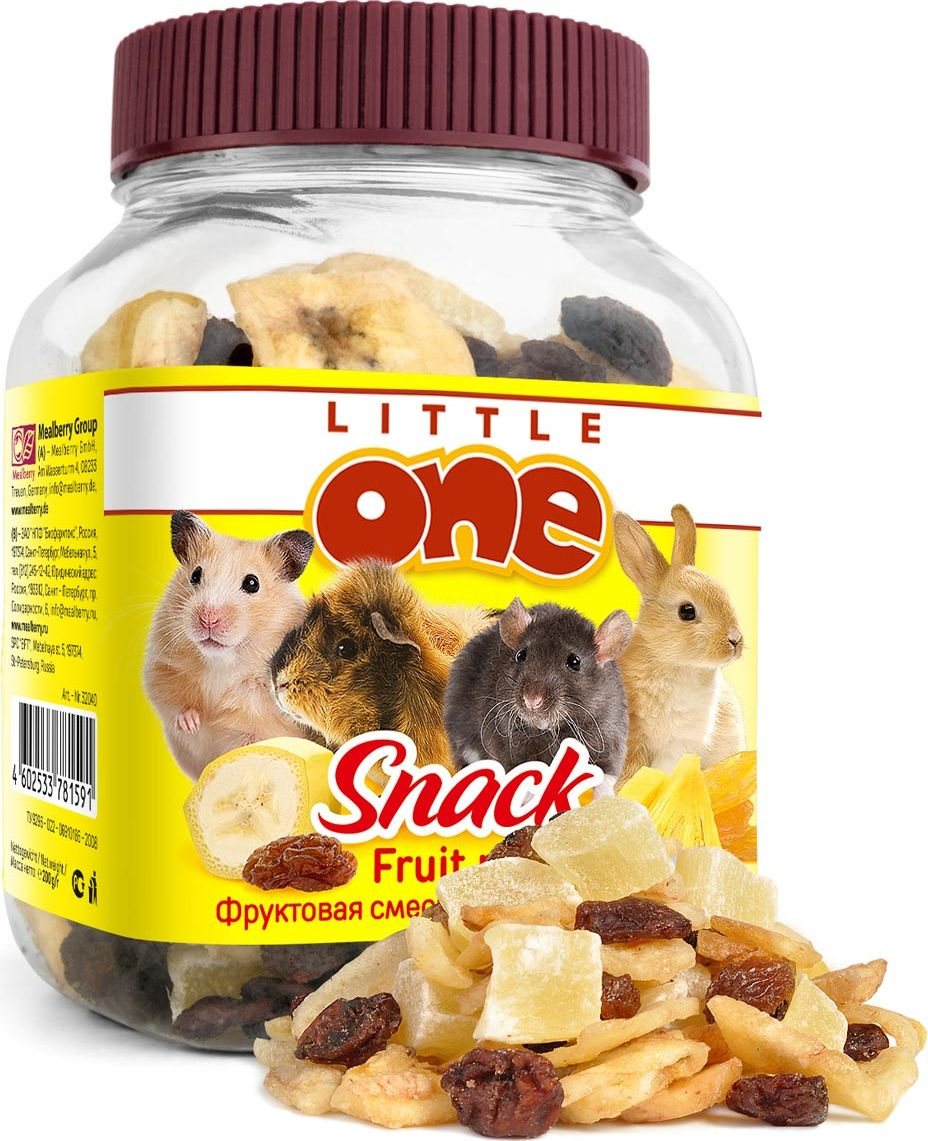 Лакомство для грызунов Little One Фруктовая смесь, 200 г0120710Лакомство Little One Фруктовая смесь является очень вкусной и питательной пищей для грызунов.Бананы являются очень питательным продуктом с высоким содержанием калия, что укрепляет сердечную мышцу. Ананасы содержат большое количество каротина и калия, витамин А, С, витамины группы В, белки, жиры, углеводы, клетчатку, магний, хлор, йод. Изюм богат полезными минеральными солями, органическими кислотами и витаминами.Товар сертифицирован.