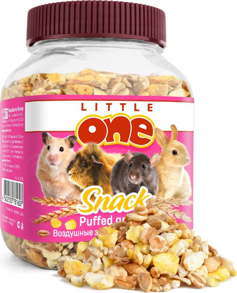 Лакомство для грызунов Little One Воздушные зерна, 100 г0120710Лакомство для грызунов Little One Воздушные зерна является очень вкусной и питательной пищей для грызунов. Воздушное зерно - это зерно с пониженной объемной плотностью, за счет чего белки и углеводы становятся более доступными организму.Товар сертифицирован.
