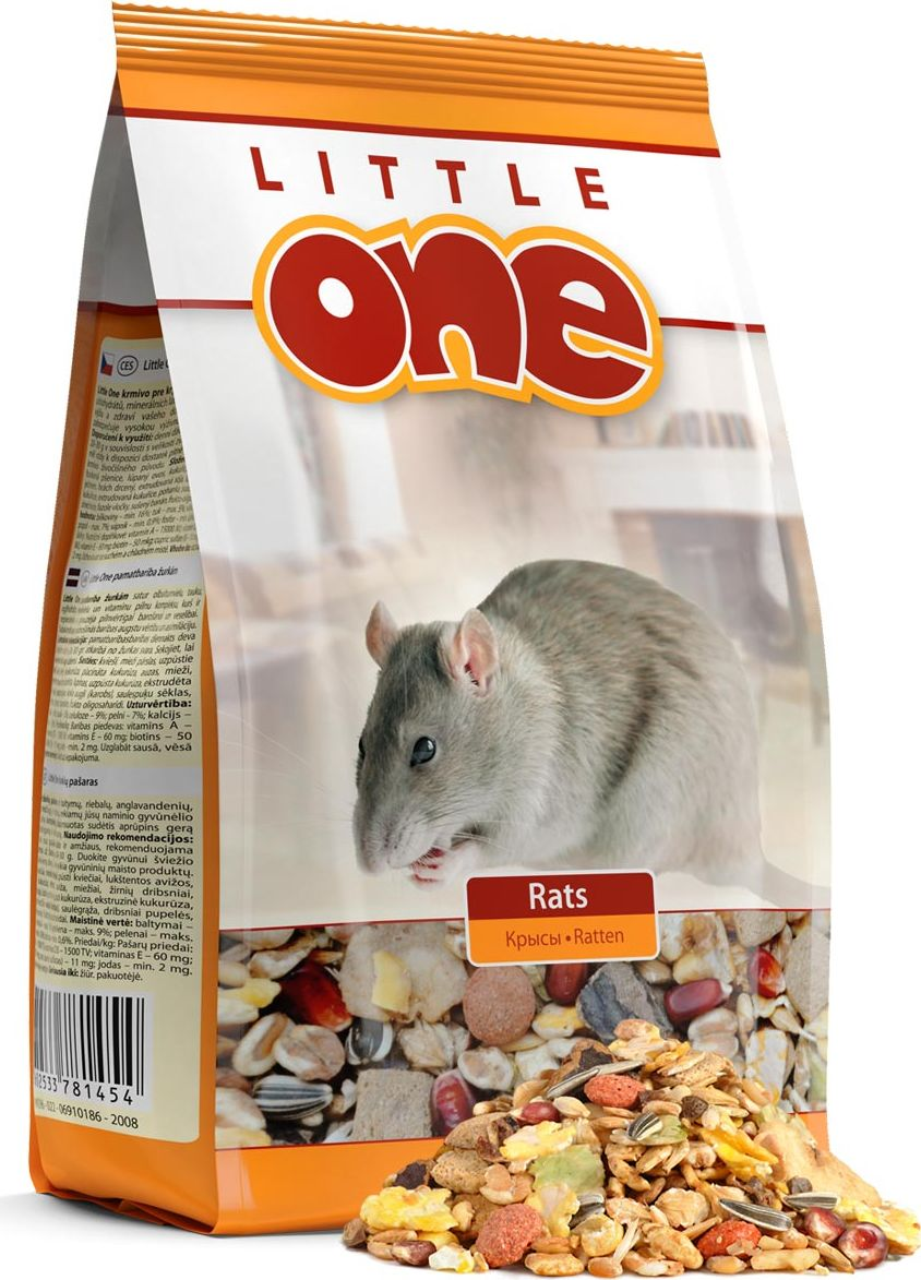 Корм для крыс Little One, 900 г53796Корм для крыс Little One - полноценное питание с добавлением витаминов и минеральных веществ. Разнообразный состав, включающий зерна, семена, плющеные бобовые, воздушные зерна, плоды и фрукты, а также вкусные хрустящие экструдированные кусочки. Без прессованных гранул.Товар сертифицирован.