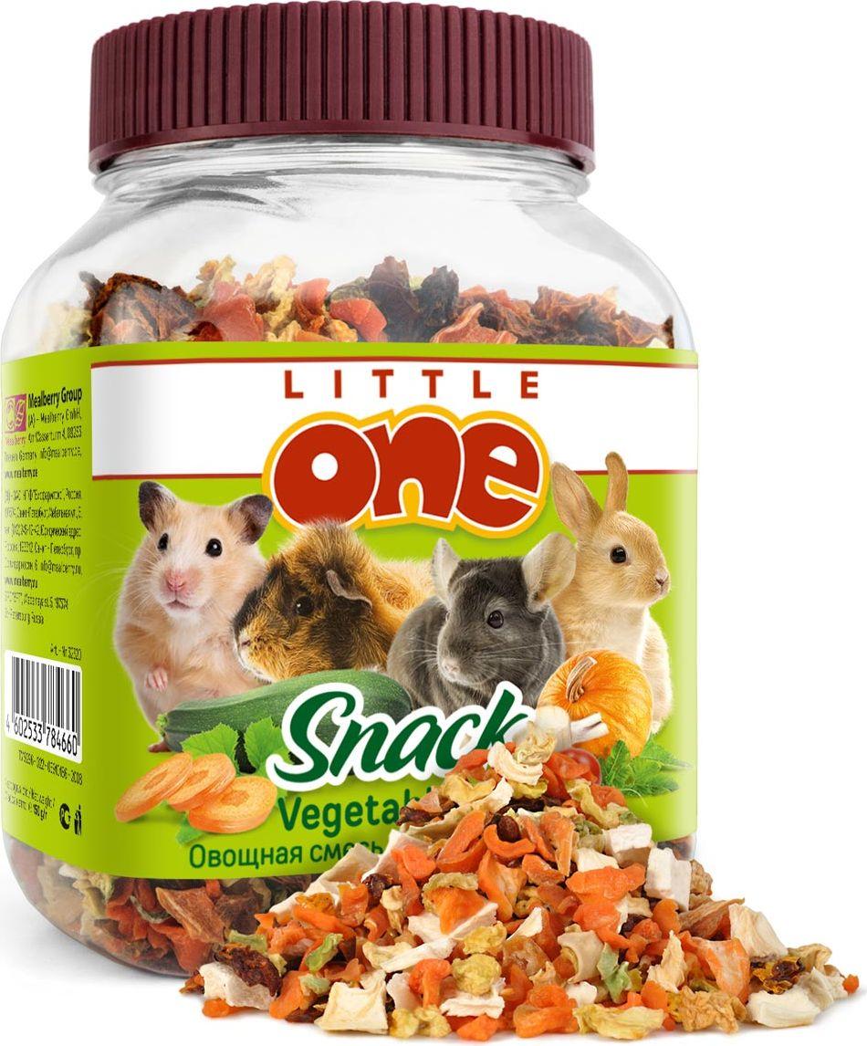 Лакомство для грызунов Little One Овощная смесь, 150 г57466Лакомство для грызунов Little One Овощная смесь — это полезная и вкусная добавка к основному рациону грызунов и кроликов. Смесь, состоящая из пяти видов сушеных овощей, поможет разнообразить питание зверьков, а также послужит источником витаминов и других полезных веществ.Товар сертифицирован.