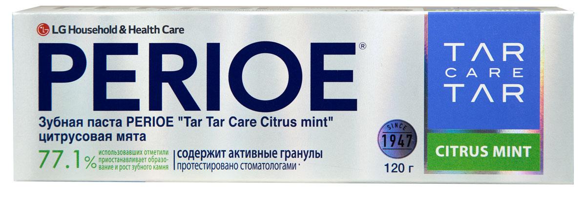 Perioe Зубная паста Tar Tar сare сitrus mint цитрусовая мята 120 г5010777139655Уменьшает образования зубного камня, а так же препятствует его дальнейшее развитие.Протестировано стоматологами. Эффективность подтверждена клиническими испытаниями.