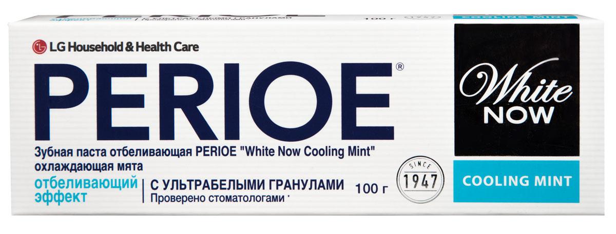 Perioe Зубная паста отбеливающая white now cooling mint охлаждающая мята 100 г18100101Специальная формула с ультра белыми гранулами для устранения налета, который приводит к потемнению зубной эмали. Эффективность подтверждена клиническими исследованиями.