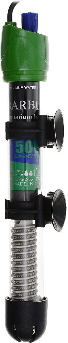 Нагреватель-терморегулятор Barbus HF-50W, 50 Вт0120710Нагреватель-терморегулятор Barbus HF-50W обеспечивает высокую точность поддержания заданной температуры. Полностью погружной. Ударопрочная кварцевая колба обеспечивает нагревателю долгий срок эксплуатации. Сверху имеется циферблат значения температуры. Крепится при помощи двух присосок.Мощность: 50 Вт.Температура: 12-34°С.Рекомендуемый объем аквариума: 40-60 л.Напряжение: 220-240В.Частота: 50/60 Гц.Длина нагревателя: 21,5 см.Уважаемые клиенты! Обращаем ваше внимание на допустимые незначительные изменения в дизайне товара, некоторые детали могут отличаться по цвету от товара, изображенного на фотографии.Поставка осуществляется в зависимости от наличия на складе.