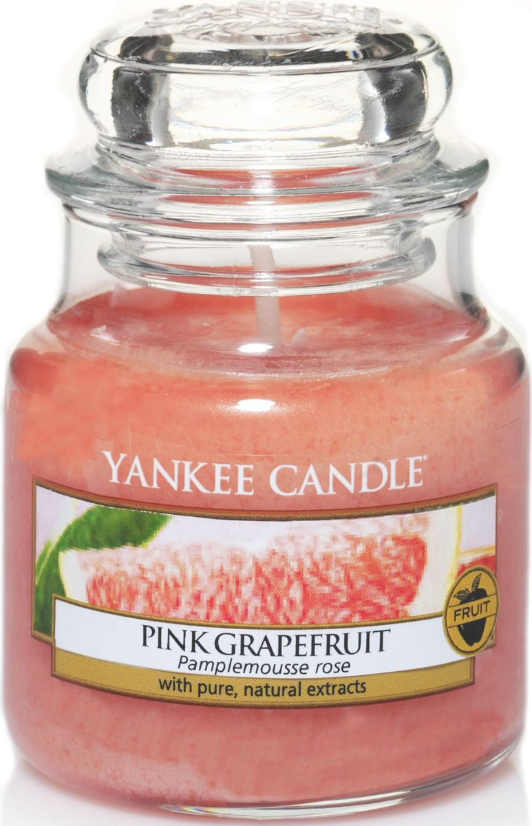 Ароматическая свеча Yankee Candle Розовый грейпфрут / Pink Grapefruit, 25-45 чRG-D31SСвеча в стеклянной банке с ароматом настоящего грейпфрута. Если Вы любите цитрусовые запахи- этот аромат будет одним из самых любимых Вами ароматов для дома!Верхняя нота: Розовый Грейпфрут, смесь ЦитрусовыхСредняя нота: Лавандин, Ландыш, РозаБазовая нота: Персиковый Нектар, Зелень, Дыня
