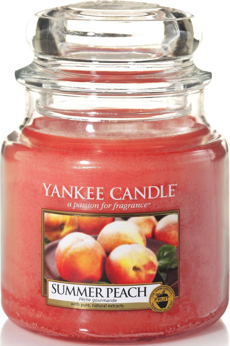 Ароматическая свеча Yankee Candle Летний персик / Summer Peacn, 65-90 ч12723Ароматическая свеча с ароматом зрелых персиков, согретых солнцем, прямо из сада.