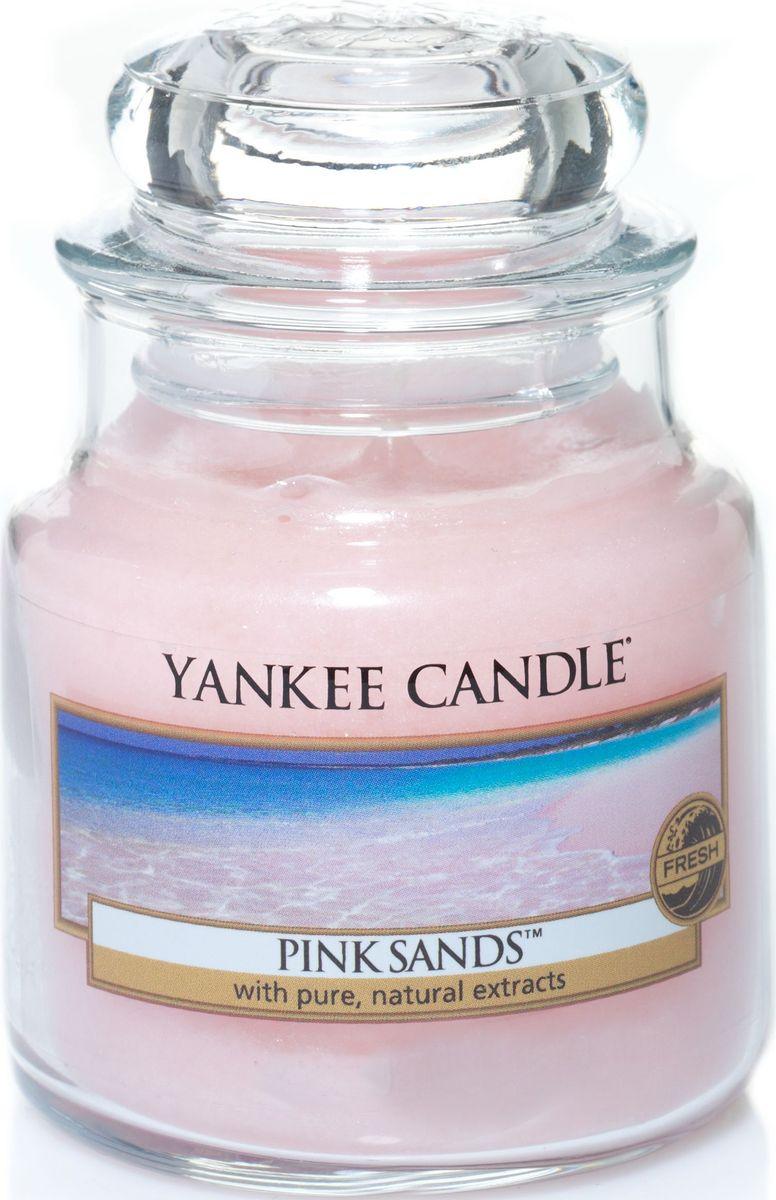 Ароматическая свеча Yankee Candle Розовые пески / Pink Sands, 25-45 чБрелок для ключейПотрясающий, сладко-свежий аромат моря, ветра и романтики. Это один из самых любимых запахов наших клиентов!Верхняя нота: Цитрусовые, Дыня, ЯгодыСредняя нота: ОсмантусБазовая нота: Пряная Ваниль, Мускус, Древесные