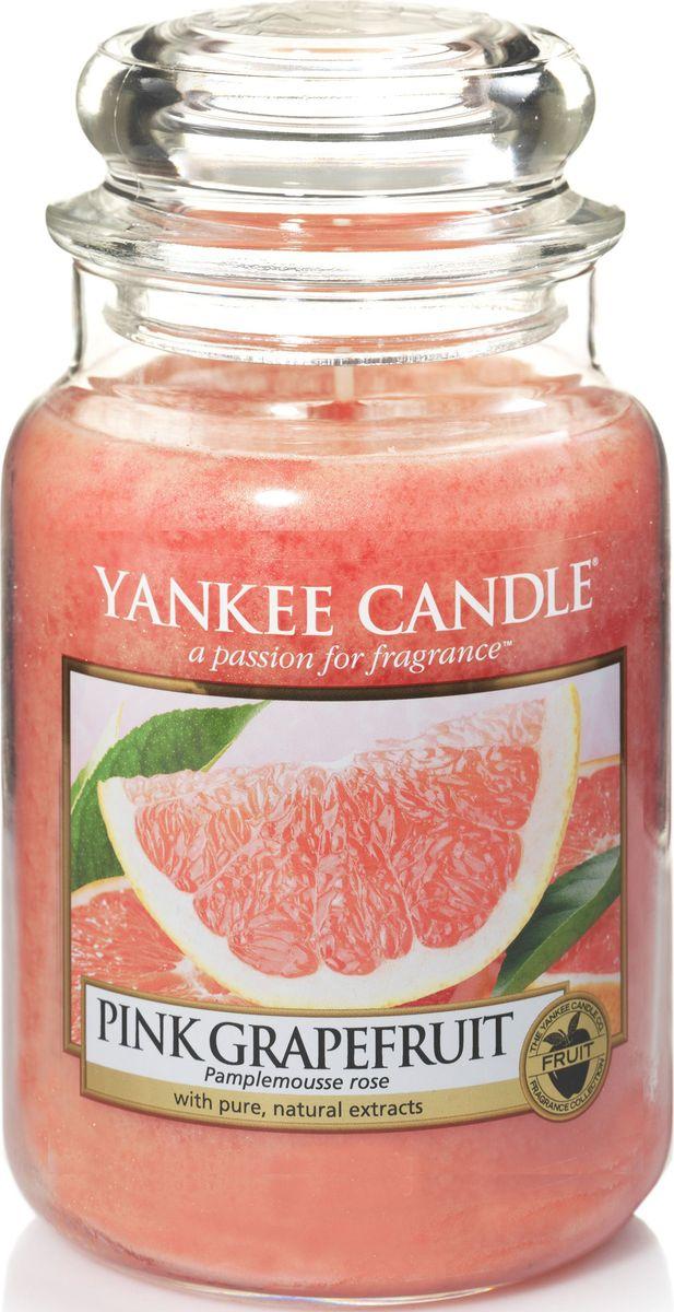 Ароматическая свеча Yankee Candle Розовый грейпфрут / Pink Grapefruit, 110-150 чБрелок для ключейСвеча в стеклянной банке с ароматом настоящего грейпфрута. Если Вы любите цитрусовые запахи- этот аромат будет одним из самых любимых Вами ароматов для дома!Верхняя нота: Розовый Грейпфрут, Смесь ЦитрусовыхСредняя нота: Лавандин, Ландыш, РозаБазовая нота: Персиковый Нектар, Зелень, Дыня