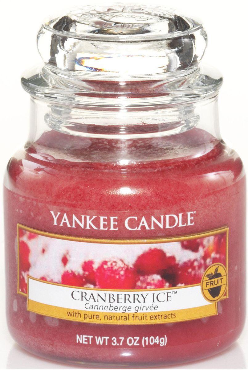 Ароматическая свеча Yankee Candle Клюква со льдом / Cranberry Ice, 25-45 чБрелок для ключейЯгодный аромат с кислинкой, и вкраплениями сладких ванильных нот. Верхние ноты: КлюкваСредние ноты: МандаринБазовые ноты: Ванильный сахар