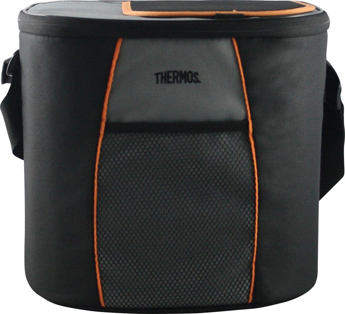 Термосумка Thermos E5 24 Can Cooler, цвет: черный, серый, 15 лKOC-H19-LEDСумка-термос Thermos E5 24 Can Cooler прекрасно подойдет для путешествий, она отличается легкостью и компактностью. Сумка складывается и фиксируется в сложенном положении, что облегчает хранение. Внутреннее наполнение стенок позволяет сохранять продукты замороженными, свежими или теплыми длительное время. Внутренняя поверхность обладает 100% герметичностью. При перевозке жидкостей это позволяет избежать протеканий. Внешняя ткань устойчива к загрязнениям и легка в уходе. Сумка имеет прочный регулируемый ремень для переноски и удобную молнию для быстрого доступа к содержимому.