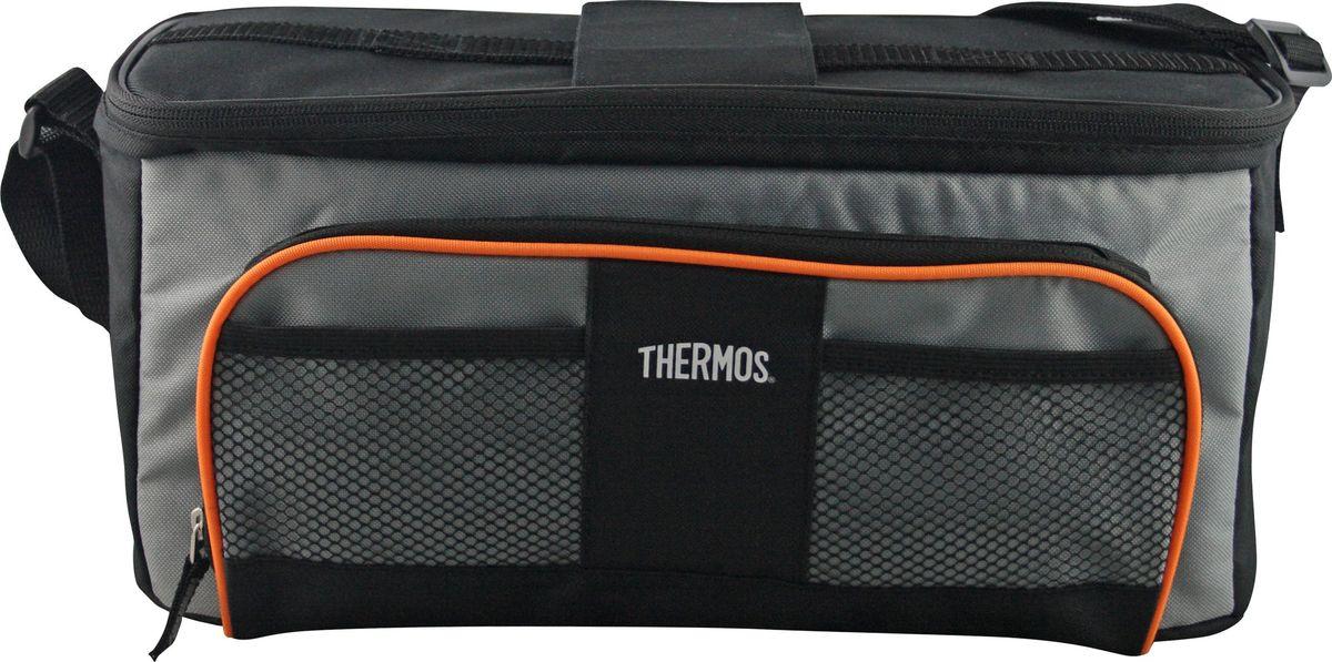 Термосумка Thermos E5 Lunch Lugger, цвет: черный, серый, 4,5 лTRC-032Сумка-термос Thermos E5 Lunch Lugger прекрасно подойдет для путешествий, она отличается легкостью и компактностью. Сумка складывается и фиксируется в сложенном положении, что облегчает хранение. Внутреннее наполнение стенок позволяет сохранять продукты замороженными, свежими или теплыми длительное время. Внутренняя поверхность обладает 100% герметичностью. При перевозке жидкостей это позволяет избежать протеканий. Внешняя ткань устойчива к загрязнениям и легка в уходе. Сумка имеет прочный регулируемый ремень для переноски и удобную молнию для быстрого доступа к содержимому.
