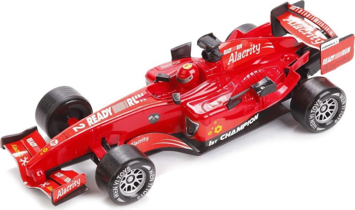 ТехноПарк Машинка инерционная Гоночная цвет красный черный, Shantou City Daxiang Plastic Toy Products Co., Ltd