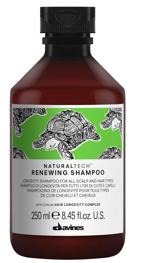 Davines Renewing Shampoo Обновляющий шампунь, 250 мл71243Деликатный шампунь, продлевающий жизненный цикл волос. Помогает поддерживать естественную красоту и здоровое состояние кожи головы и волос.Оставляет волосы плотными и блестящими. Подходит для всех типов волос и кожи головы.Обогащен комплексом активных ингредиентов Hair Longevity Complex.Способ применения: Нанести на влажные волосы, помассировать, оставить на несколько минут, тщательно смыть. При необходимости повторить.Частота применения: так часто, как это необходимо. Объем: 250 мл