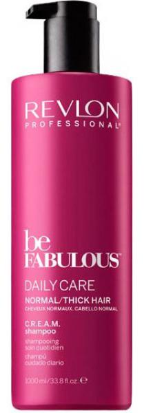Revlon Professional Be Fabulous C.R.E.A.M. Shampoo For Normal Thick Hair Очищающий шампунь для нормальных/густых волос, 1000 млFS-00897Профессиональный шампунь для ежедневного очищения нормальных или густых волос испанского бренда Revlon Professional. Предназначен для ежедневного мягкого очищения волос, обладает мультиухаживающим эффектом, обеспечивает сохранение цвета, восстановление, блеск, антивозрастной эффект и увлажнение.Применение: нанести небольшой объем очищающего шампуня для нормальных и густых волос Revlon, вспенить, тщательно промыть теплой водой. Для достижения эффекта профессионально ухоженных сияющих волос рекомендуется дополнительное использование кондиционера и маски для нормальных или густых волос серии Be Fabulous Cream Revlon.Объем: 1000 мл