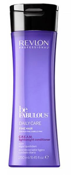 Revlon Professional Be Fabulous C.R.E.A.M. Conditioner For Fine Hair Кондиционер для тонких волос, 250 млFS-00897Мультиухаживающий кондиционер для тонких волос испанского бренда Revlon Professioanal. Содержит QUATERNIUM-22, кератин, пантенол, витамин Е и бетаин. Предназначен для ежедневного ухода, обладает мультиухаживающим эффектом: обеспечивает сохранение цвета (за счет комплекса УФ-фильтров), восстановление (кератин в составе), блеск без утяжеления (благодаря пантенолу), антивозрастной эффект (витамин Е) и увлажнение (бетаин). Имеет приятное сочетание ароматов бергамота, мускуса, фрезии.Применение: нанести небольшой объем кондиционера для тонких волос Revlon, оставить на 1-2 минуты, тщательно промыть теплой водой. Для достижения эффекта профессионально ухоженных сияющих волос рекомендуется дополнительное использование очищающего шампуня и маски для тонких волос серии Be Fabulous Cream Revlon.Объем: 750 мл
