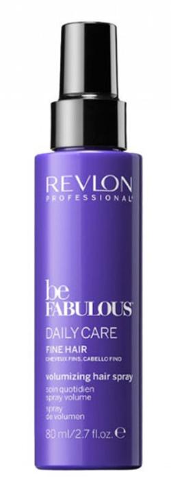 Revlon Professional Be Fabulous C.R.E.A.M. Spray For Fine Hair Спрей, поддерживающий объем, для тонких волос, 80 млMP59.4DСпрей для придания объема на тонких волосах испанского бренда Revlon Professioanal. Содержит QUATERNIUM-22, кератин, пантенол, витамин Е и бетаин. Предназначен для частого применения, обладает мультиухаживающим эффектом: обеспечивает сохранение цвета (за счет комплекса УФ-фильтров), восстановление (кератин в составе), блеск без утяжеления (благодаря пантенолу), антивозрастной эффект (витамин Е) и увлажнение (бетаин). Имеет приятное сочетание ароматов бергамота, мускуса, фрезии. Не склеивает и не утяжеляет волосы.Применение: нанести небольшой объем спрея для тонких волос Revlon, не смывать, уложить как обычно. Для достижения эффекта профессионально ухоженных сияющих волос рекомендуется дополнительное использование очищающего шампуня и кондиционера для тонких волос серии Be Fabulous Cream Revlon.Объем: 80 мл