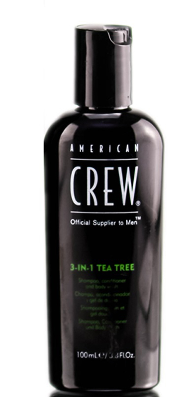 American Crew Tea Tree 3-in-1 Средство 3 в 1 Шампунь, Кондиционер и Гель для душа Чайное дерево, 100 млFS-00897p>Любите универсальные продукты для принятия водных процедур? Тогда вам непременно понравится разработка мастеров торговой марки American Crew! Средство для ухода за волосами и телом Чайное дерево совместило в себе преимущества геля для душа, шампуня и кондиционера. Отличный выбор для тех, кто постоянно опаздывает на работу или часто путешествует!Продукт содержит масло чайного дерева, которое отличается мощным дезинфицирующим действием. Экстракты хмеля и шалфея бережно ухаживают за волосами, даря им шелковистую мягкость, ослепительный блеск и силу. Продукт обладает насыщенным ароматом, который будет радовать своей свежестью до 8 часов! Настоящая находка для тех, кто обожает окружать себя стойкими ароматами. Средство обладает мягкой сбалансированной формулой и подходит для частого применения.Применение: нанести небольшое количество шампуня на мокрые волосы и кожу головы, остановить, после чего тщательно смыть водой. При необходимости повторить. Избегать контакта с глазами. Объем: 100 мл