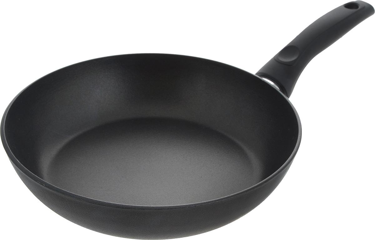 Сковорода Алита Сударыня, антипригарное покрытие. Диаметр 24 см11401Сковорода Алита Сударыня изготовлена из литого алюминия. Благодаря утолщенному дну и стенки, изделие прекрасно сохраняет температуру и идеально подходит для приготовления блюд, требующих длительного приготовления. Кроме того, вы будете приятно удивлены качеством обжарки продуктов на большом огне. Изделие оснащено удобной пластиковой ручкой, которая не нагревается во время готовки.Сковорода подходит для использования на электрических, стеклокерамических и газовых плитах. Можно мыть в посудомоечной машине.Диаметр сковороды: 24 см.Высота стенки: 5,5 см.Длина ручки: 15,5 см.