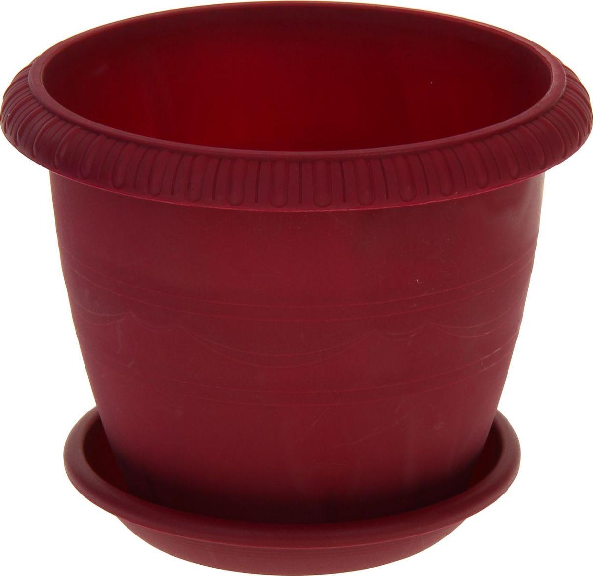 Горшок для цветов ТЕК.А.ТЕК Le Jardin, цвет: бордовый, 5,5 лC0030766Любой, даже самый современный и продуманный интерьер будет не завершённым без растений. Они не только очищают воздух и насыщают его кислородом, но и заметно украшают окружающее пространство. Такому полезному члену семьи просто необходимо красивое и функциональное кашпо, оригинальный горшок или необычная ваза! Мы предлагаем - Горшок для цветов 5,5 л Le Jardin, d=25 см, цвет бордовый! Оптимальный выбор материала пластмасса! Почему мы так считаем? Малый вес. С лёгкостью переносите горшки и кашпо с места на место, ставьте их на столики или полки, подвешивайте под потолок, не беспокоясь о нагрузке. Простота ухода. Пластиковые изделия не нуждаются в специальных условиях хранения. Их легко чистить достаточно просто сполоснуть тёплой водой. Никаких царапин. Пластиковые кашпо не царапают и не загрязняют поверхности, на которых стоят. Пластик дольше хранит влагу, а значит растение реже нуждается в поливе. Пластмасса не пропускает воздух корневой системе растения не грозят резкие перепады температур. Огромный выбор форм, декора и расцветок вы без труда подберёте что-то, что идеально впишется в уже существующий интерьер. Соблюдая нехитрые правила ухода, вы можете заметно продлить срок службы горшков, вазонов и кашпо из пластика: всегда учитывайте размер кроны и корневой системы растения (при разрастании большое растение способно повредить маленький горшок)берегите изделие от воздействия прямых солнечных лучей, чтобы кашпо и горшки не выцветалидержите кашпо и горшки из пластика подальше от нагревающихся поверхностей. Создавайте прекрасные цветочные композиции, выращивайте рассаду или необычные растения, а низкие цены позволят вам не ограничивать себя в выборе.