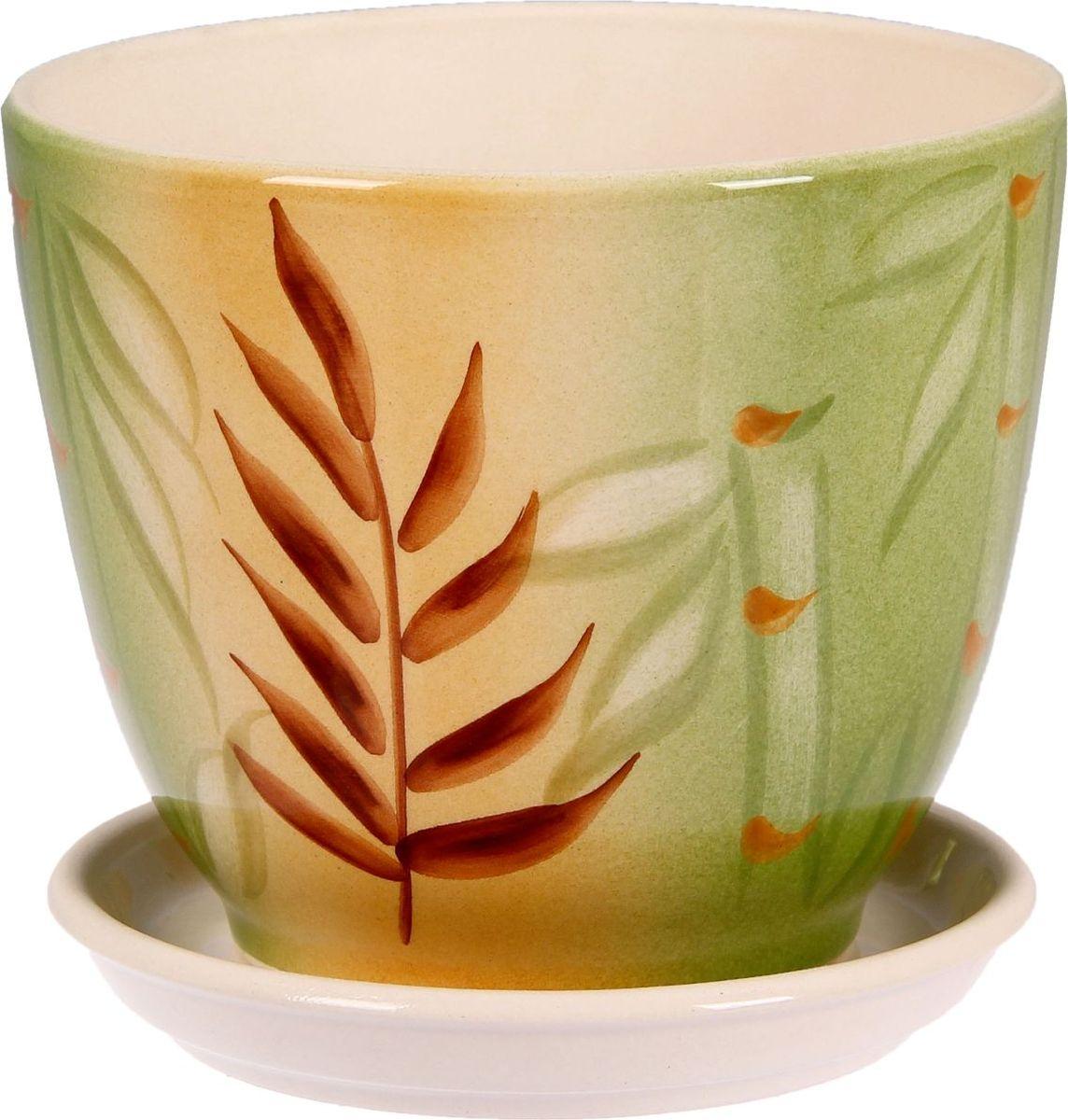 Кашпо Керамика ручной работы Кедр. Бамбук, цвет: зеленый, 2,2 л835557Комнатные растения — всеобщие любимцы. Они радуют глаз, насыщают помещение кислородом и украшают пространство. Каждому из них необходим свой удобный и красивый дом. Кашпо из керамики прекрасно подходят для высадки растений: за счёт пластичности глины и разных способов обработки существует великое множество форм и дизайновпористый материал позволяет испаряться лишней влагевоздух, необходимый для дыхания корней, проникает сквозь керамические стенки! #name# позаботится о зелёном питомце, освежит интерьер и подчеркнёт его стиль.